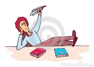 distracted-student-throwing-paper-plane-cartoon-illustration-unmotivated-54702403